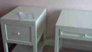 Set of night stands assembly finish 3