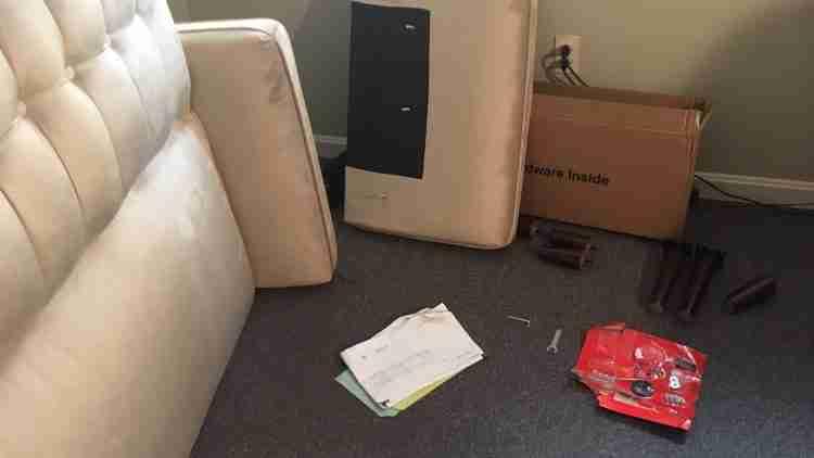 disassembled sofa